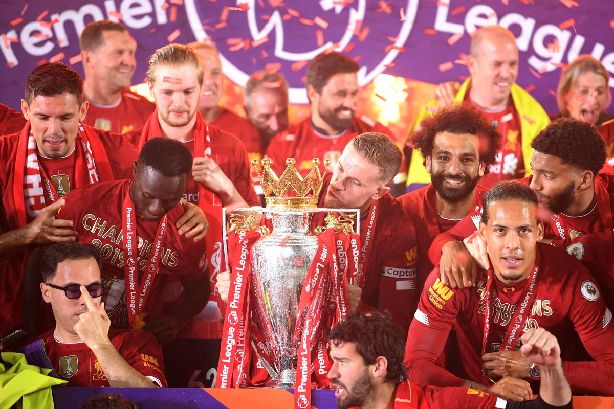 In Pictures: Liverpool players celebrate with Premier League trophy -  Sportstar