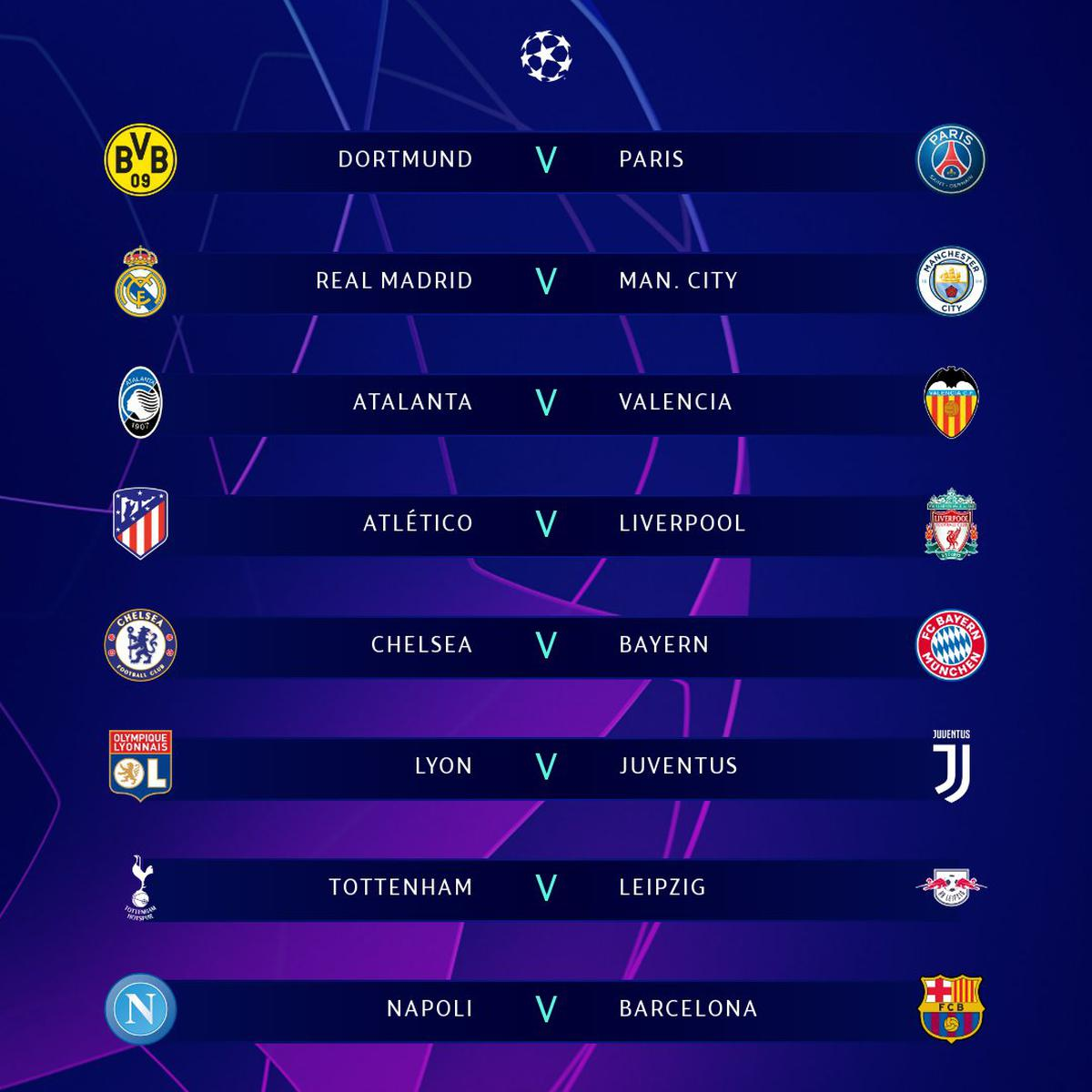 Champions League And Europa Draw